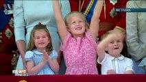 Drôle: la fille de Zara Phillips fait taire le prince George sur le balcon de Buckingham Palace