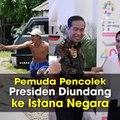 Bona, Pria yang Bertelanjang Dada Pencolek Presiden saat Touring ke Pangandaran Diundang ke Istana Selasa (5/6/2018), Joko Widodo mengundang selebritis, atlet