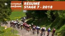 Résumé - Étape 7 (Moûtiers / Saint-Gervais Mont Blanc) - Critérium du Dauphiné 2018