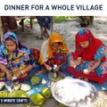 A charity dinner for a whole village. via Around Me BD, bit.ly/2KZ05zQ, bit.ly/2kuxRBO