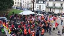 Rassemblement des cheminots bretons pour la ligne St Brieuc - Auray