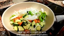 Rice Noodles with Chicken & Vegetables - Easy Rice Noodles Recipe