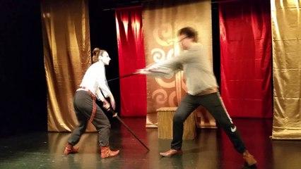 Réglage duels d'escrime théâtrale. Frédéric Trin