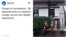 Orages et inondations: 38 départements en vigilance orange.