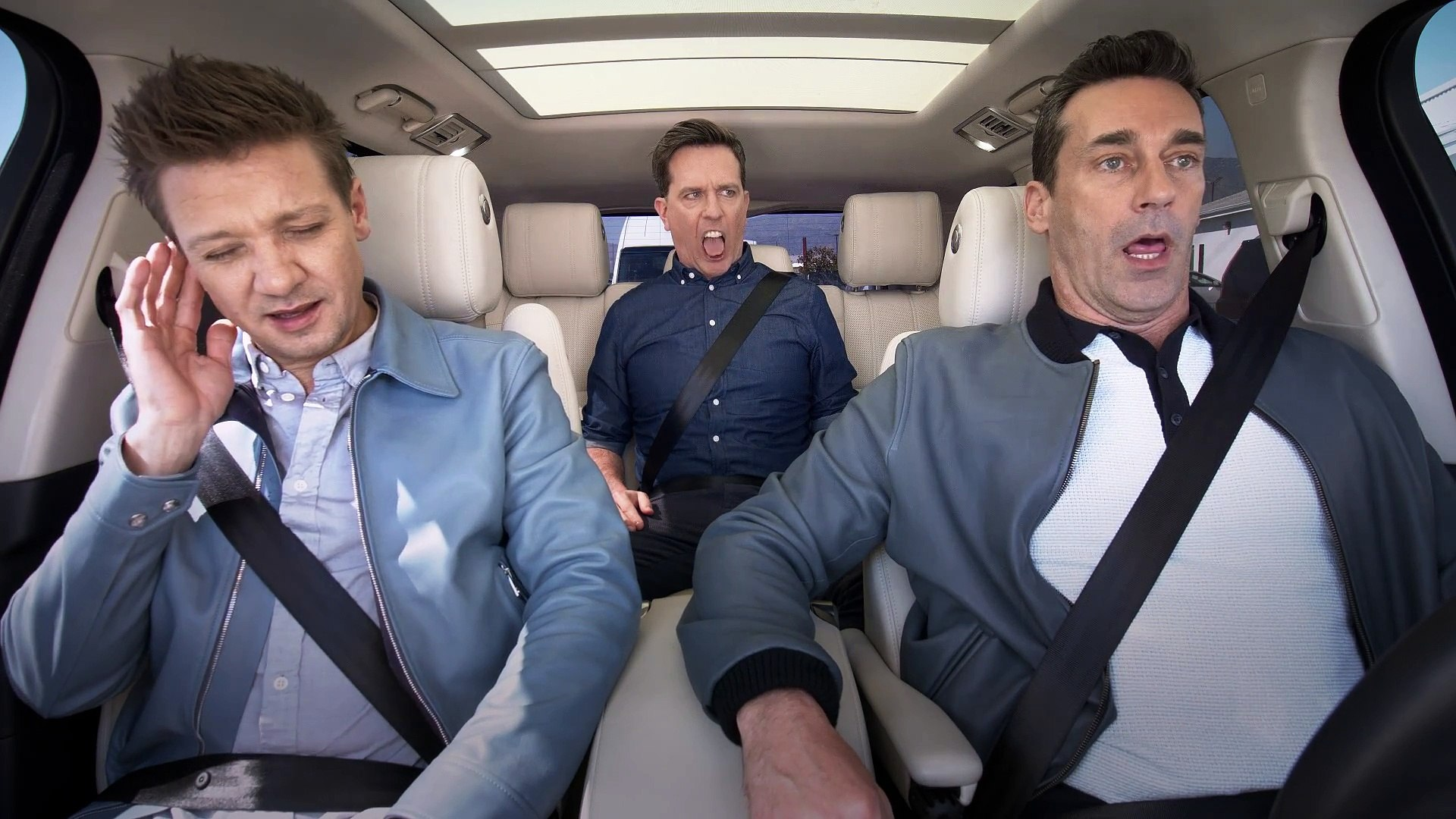 The Apple TV App — Carpool Karaoke — Stars of 'Tag' — Jon Hamm, Ed Helms & Jeremy Renner