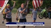Vet Raises Suicide Awareness by Running Across Iowa Carrying American Flag