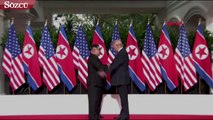 Tarihi zirve! ABD Başkanı Trump ile Kuzey Kore lideri Kim Jong Un  Singapur'da bir araya geldi