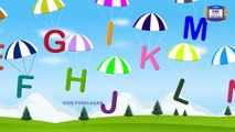 Learn Alphabets with Parachute - Parachutes song for Kids - Parachutes teaching Alphabets - KFL