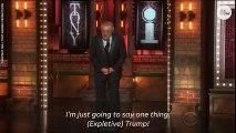 Robert De Niro censored for Trump slams at Tony Awards