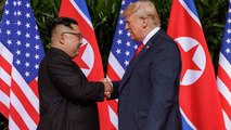US President Donald Trump and North Korean leader Kim Jong Un meet for historic meeting