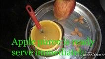 apple puree | Apple puree recipe for babies | homemade applepuree for babies
