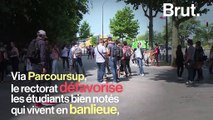 Parcoursup : les bacheliers des banlieues défavorisés par rapport aux bacheliers parisiens, pourtant moins bien notés ? Explications.