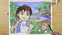 1, 2, 3… Coloriage ! | Go Diego : Chez les hippos | NICKELODEON JUNIOR