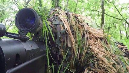 Préparation des tireurs d'élite de la 13ème demi-brigarde de la Légion étrangère