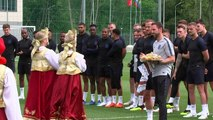 England World Cup squad get special Russian welcome
