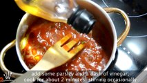 Fried Potatoes in Spicy Tomato Sauce (Patatas Bravas) - Easy Spanish Tapas Recipe