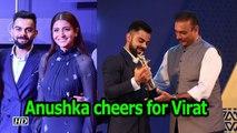 Anushka cheers as Virat receives Cricketer of the year award