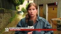 Intempéries dans le Béarn : le village de Salies-de-Béarn encore sous l'eau