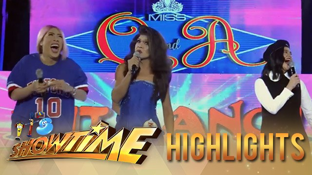 It's Showtime Miss Q & A: President Ganda turns up the Miss Q & A stage with her answer
