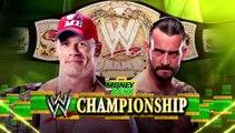 CM Punk vs John Cena Campeonato WWE | Money In The Bank  2011 Español Latino ᴴᴰ