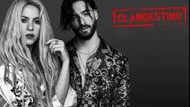 "Shakira & MALUMA – ""Clandestino""NUEVO SENCILLO / NEW SINGLE ""Clandestino"" DISPONIBLE AHORA / NOW AVAILABLEiTunes:   Apple Music:    Spotify:   Amazon Music"