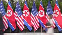 The historical handshake between North Korean Leader Kim Jong-un and US President Donald Trump begins the summit in Singapore.