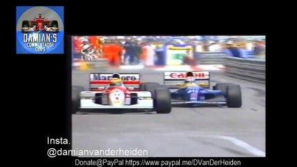 classic Formula 1 Moments. Monaco 1992 final laps OLAV MOL.