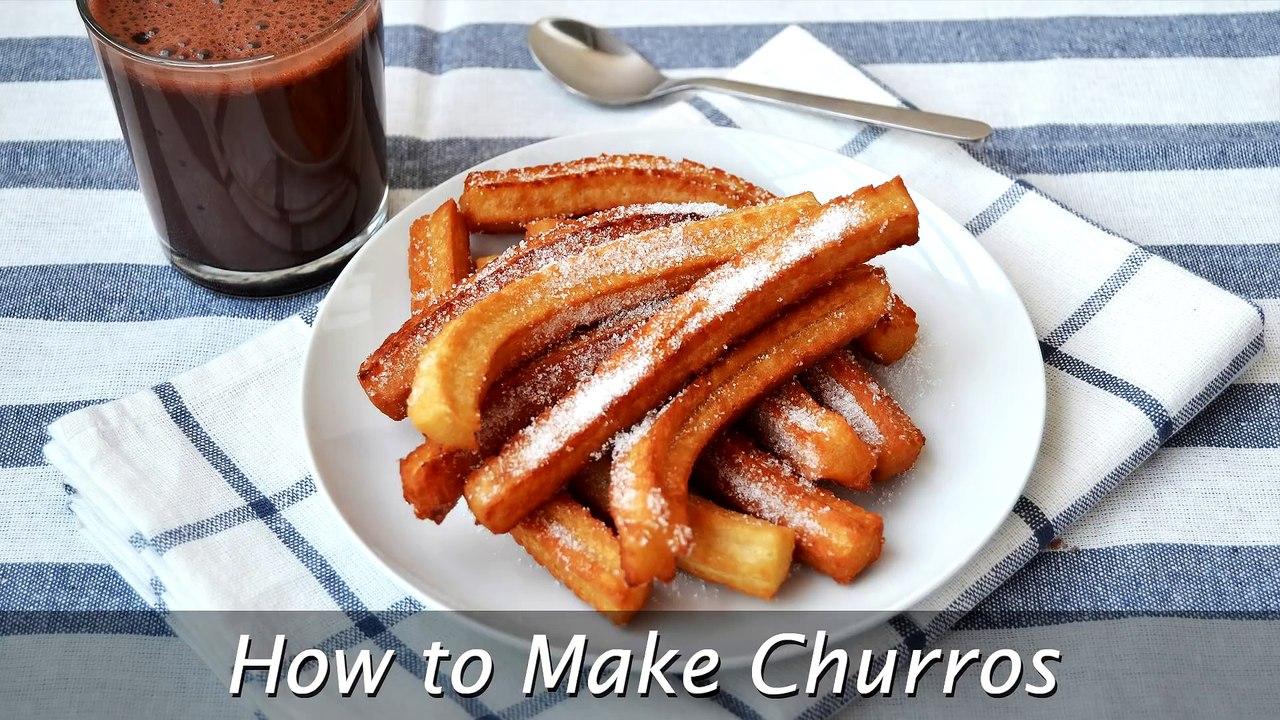 How To Make Churros Easy Homemade Churros Recipe Video Dailymotion