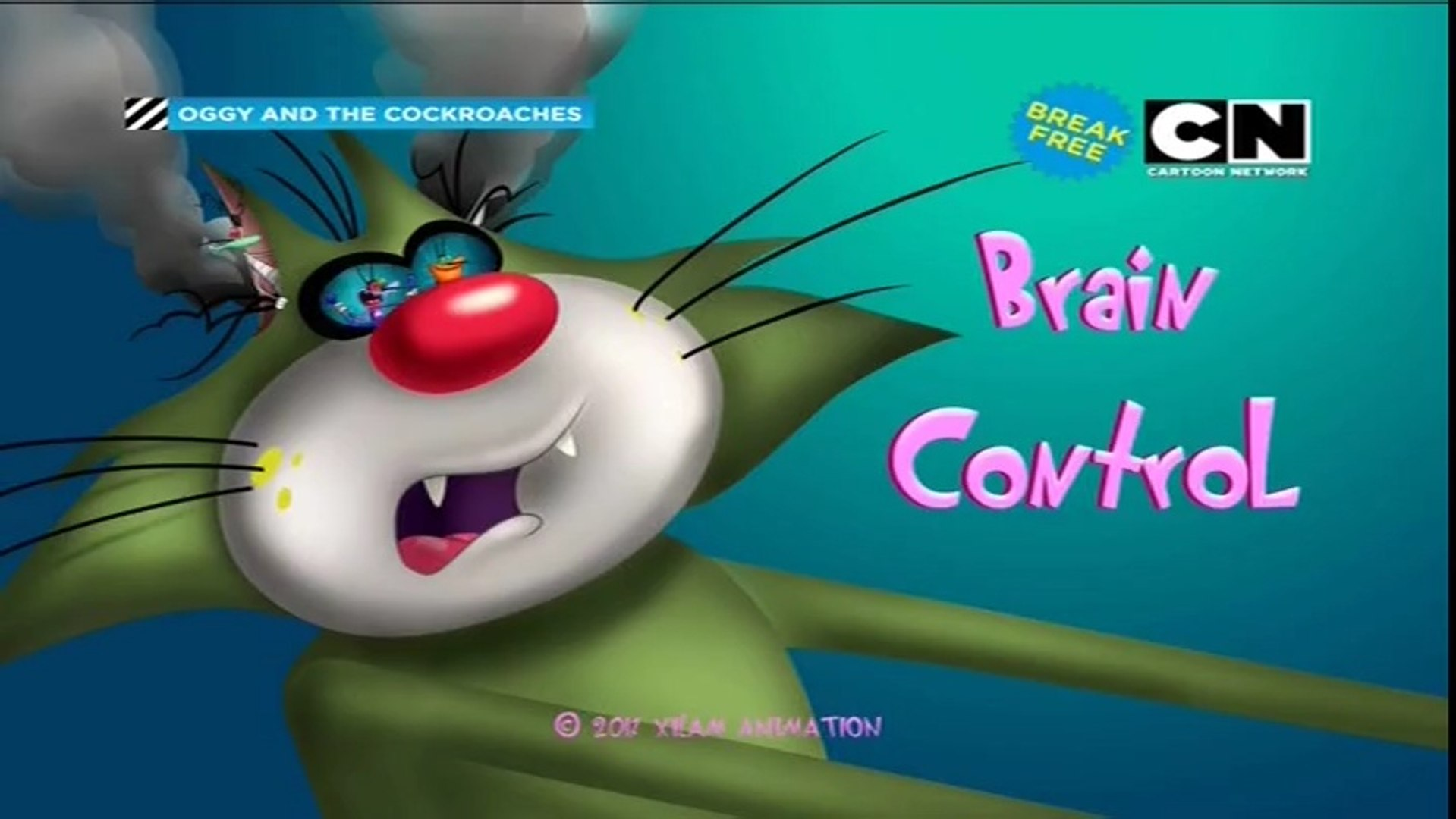 Brain Control Oggy And The Cockroaches In Hindi Animated Cartoon For Kids As Seen On Cartoon Network