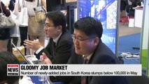 Number of newly-added jobs in South Korea slumps below 100,000 in May