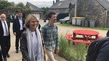 Françoise Nyssen en visite à Châteaulin