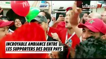 Coupe du monde 2018 : les supporters marocains et iraniens dans le métro