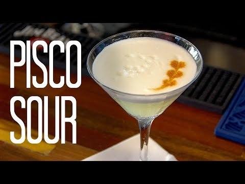 Receita de Pisco Sour - Drink Peruano
