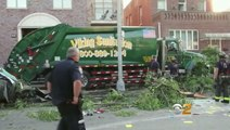 Garbage Truck Driver Drunkenly Takes Out An Entire Block