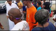 GIVING CHARITYPrime Minister Dr. Keith Rowley spent this morning in worship at the San Fernando Jama Masjid, Mucurapo Street, San Fernando. He accompanied Loca
