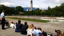 Aux 130 des troupes de montagne à Grenoble, démonstration d'une intervention militaire par hélicoptère