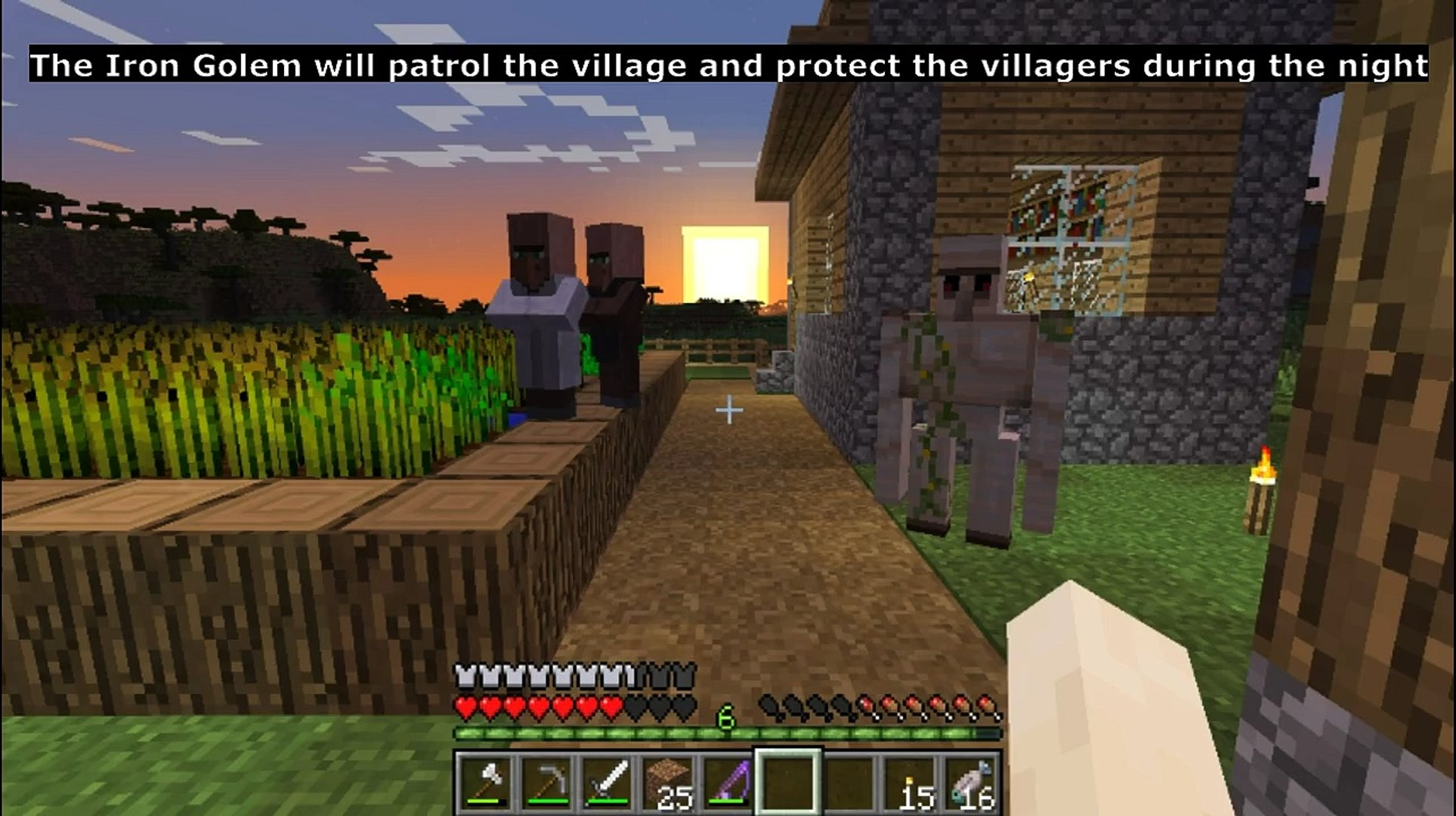Minecraft - How to make an iron golem to protect villagers