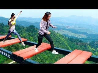Tourist Attraction Tallest  Bridge Without Barriers, Tallest Glass Bridge In The World