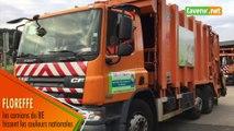 Floreffe : les camions du BEP hissent les couleurs nationales