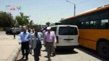 محافظ أسوان يتفقد سيارات النقل الجماعى المجهزة لمواجهة الطوارئ