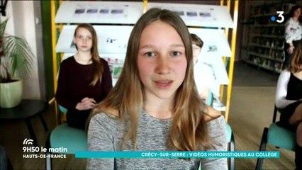 Collège Charles Brazier de Crécy-sur-Serre : quand les collégiens s'initient avec beaucoup d'humour aux médias grâce à des ateliers vidéos