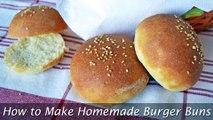 How to Make Homemade Burger Buns - Easy & Perfect Hamburger Buns Recipe