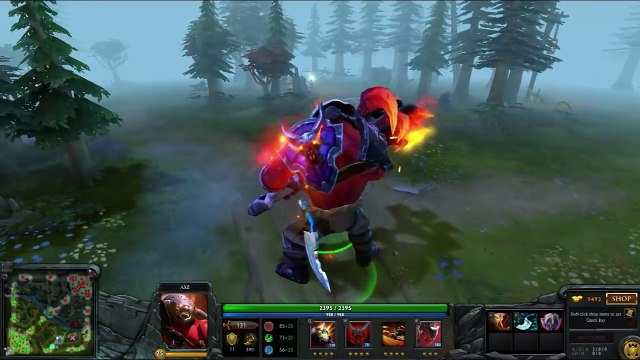 Dota 2 Axe Most Expensive Mix Set - Over 2400 $ (w/ Axe of Phractos - Guard of the Red Mist)