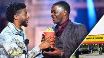 'Black Panther' Star Chadwick Boseman Dedicates MTV Award to Waffle House Hero