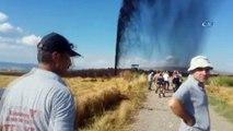 Petrol boru hattında patlama...Patlama sonrası petrol metrelerce yükseğe fışkırdı