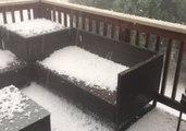 Hailstorm Slams Firestone, Colorado