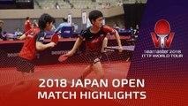 2018 Japan Open Highlights | Tomokazu Harimoto/Miu Hirano vs Mattias Karlsson/M.Ekholm (R16)