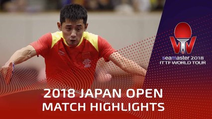 Zhang Jike vs Jonathan Groth | 2018 Japan Open Highlights (R32)