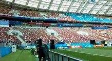 Le stade Luzhniki de Moscou ou va se jouer le match d'ouverture Entre la Russie et l'Arabie Saoudite.#culturebene au coeur de la coupe du monde.