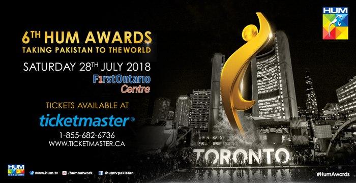 6th HUM AWARDS 2018 - Taking Pakistan to the world